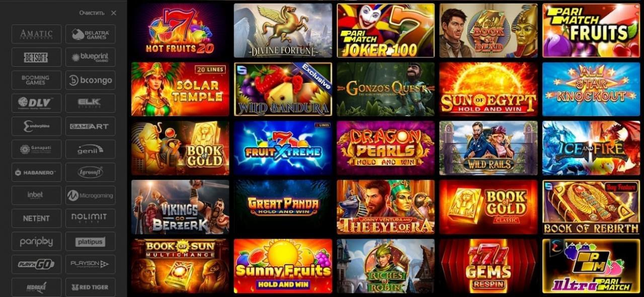 Париматч казино: обзор раздела, слоты, betgames